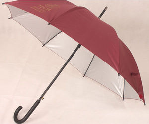 25 Inches Durable Metal Frames Straight Automatic Golf Umbrellas Outdoor Bamboo Umbrella