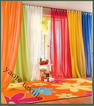 Living Room Curtains amazon living room curtains : Usa Rainbow Voile Window Curtain Sheer Curtain For Living Room ...