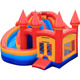 high quality 5 in 1 rainbow inflatable moonwalk/ inflatable trampoline slide combo supplier