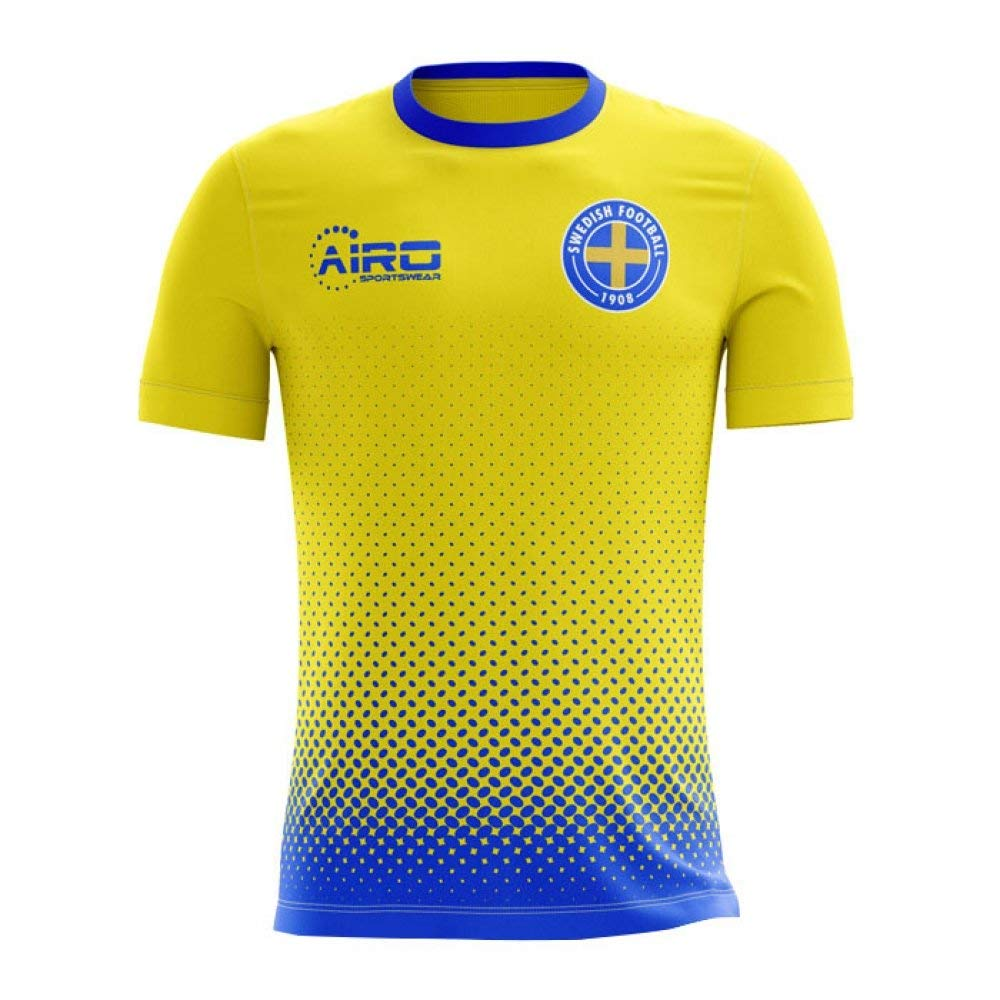 8f65b7497de Get Quotations · Airo Sportswear 2018-2019 Sweden Home Concept Football  Shirt (Kids)