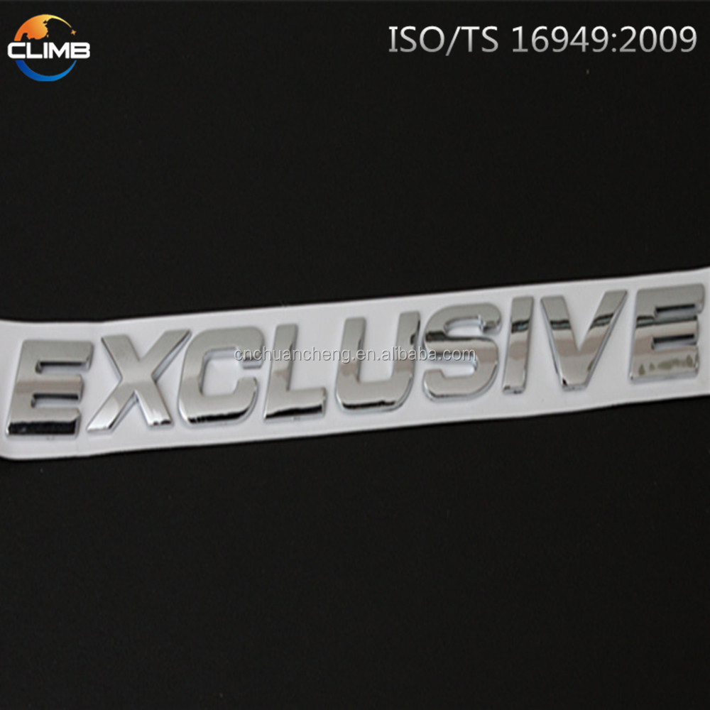 Custom 3d car decoration stickergood quality decals stickers custom sports car sticker emblem badges