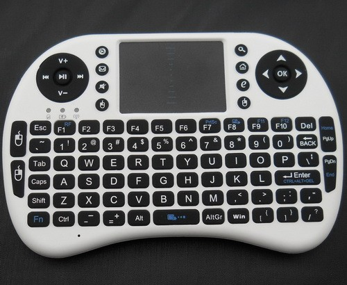 Mini Bluetooth 2.4g rii mini i8 azerty keyboard with touchpad /support lithium battery for android tv box