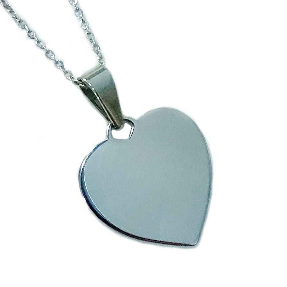 accessories stainless steel fashion design custom logo blank tags women  silver heart necklace c01ecc7d1