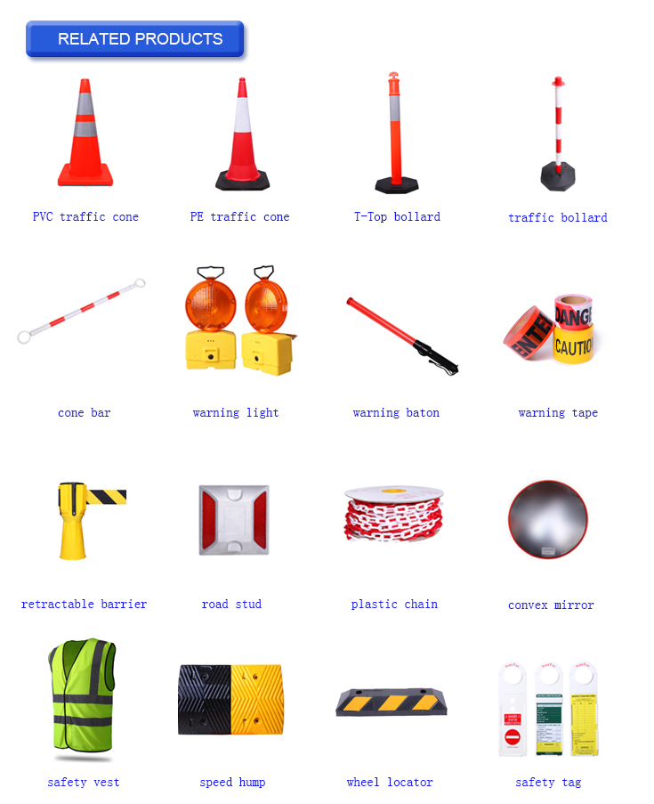 Customized PP pole colorful durable street safety warning bollard barrier