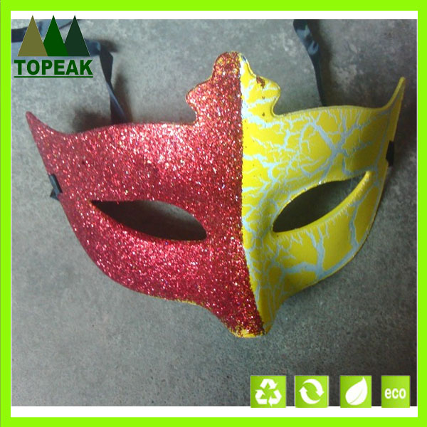 Mask with Gold lace Glitter Painted