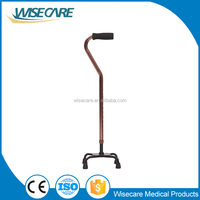 Factory price aluminum small quad Cane Old people Walking cane for sale