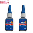HiGlue Manufacturer Super Glue 480 Cyanoacrylate Instant Adhesive Fast Curing Strength Power DIY Craft Material