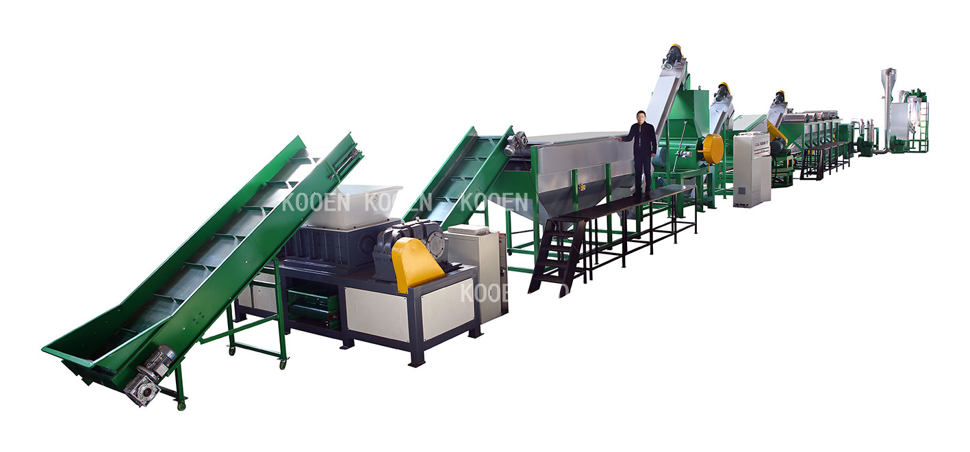 500kg small scale PET recycling machine / pet bottle recycling plant /used plastic pet flake washing line