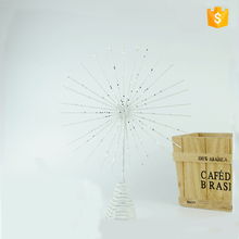 Hot sale 10 inch white wire sun shape home use decor with spring