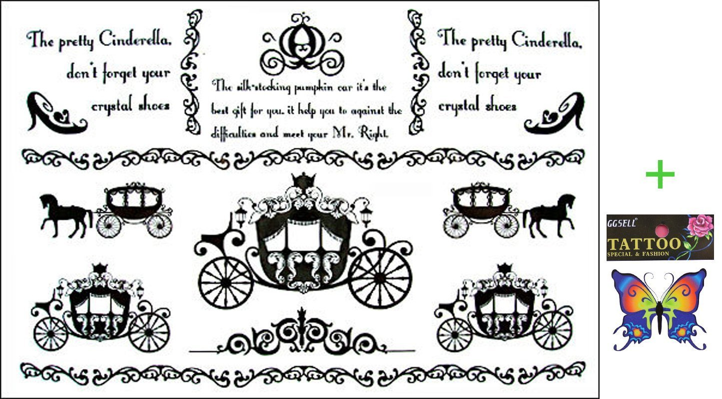 bf400077b GGSELL 2012 latest new design hot selling Men and women waterproof  temporary tattoo carriage English Tattoo