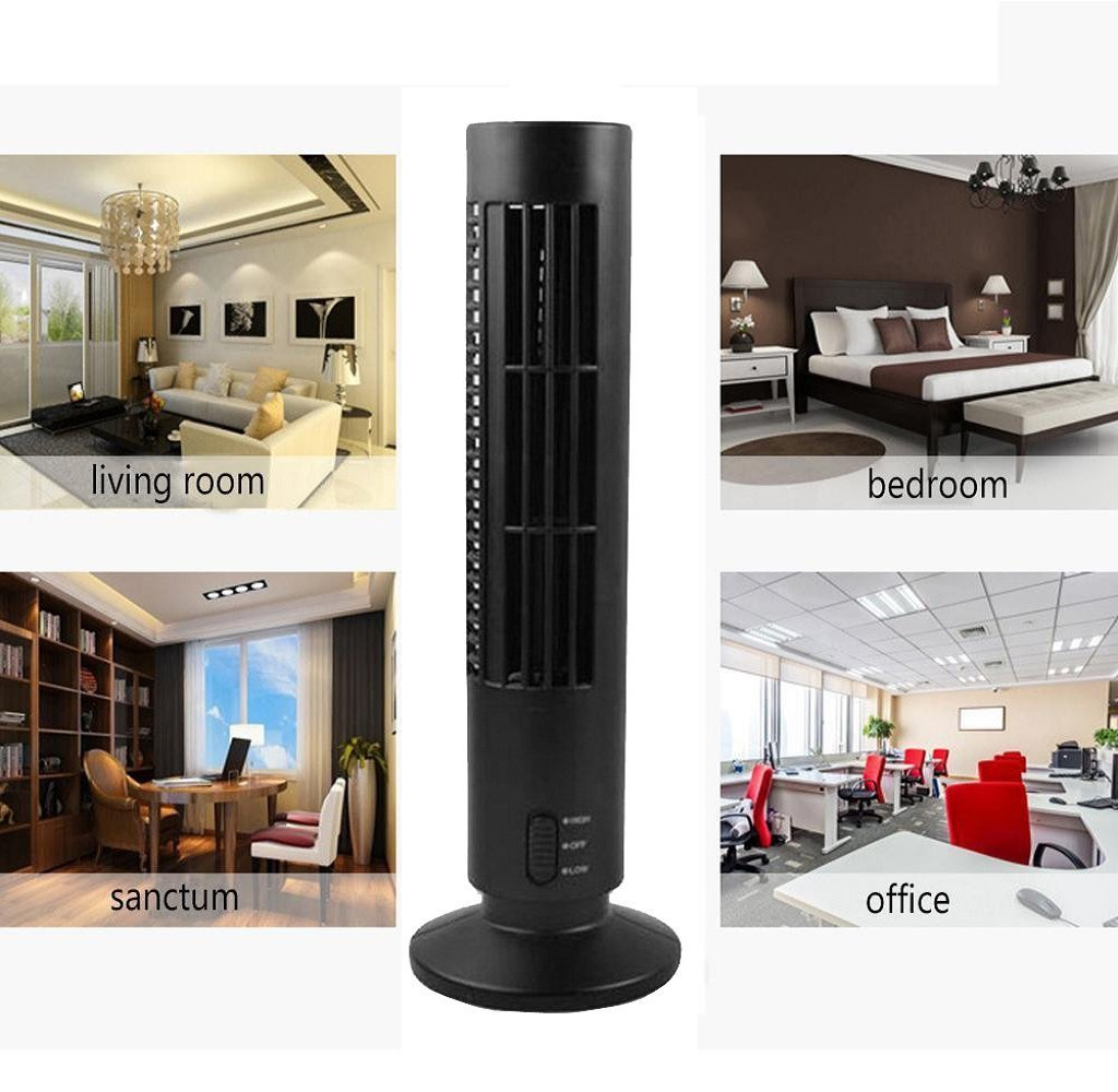 Portable Home Desk Fan Mini USB Cooling Air Conditioner Purifier Tower Bladeless