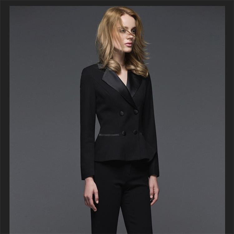Skirt Pants Double Breasted Jacket 3 Piece Dress Suit For Ladies
