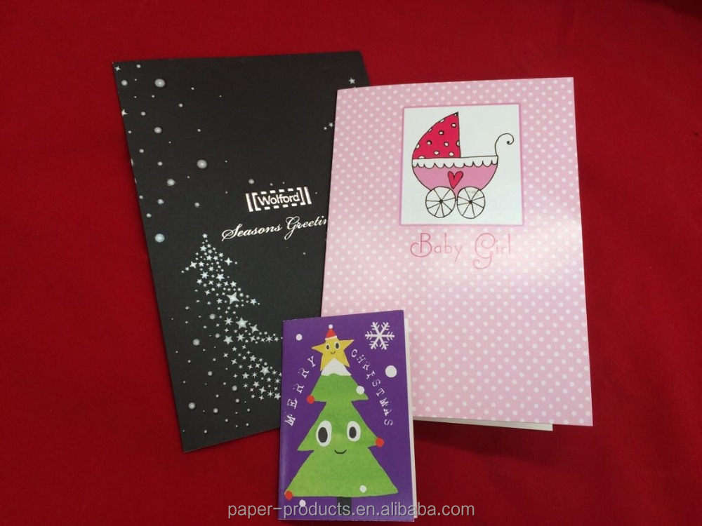 Wholesale color paper card Accept Custom Order greeting card