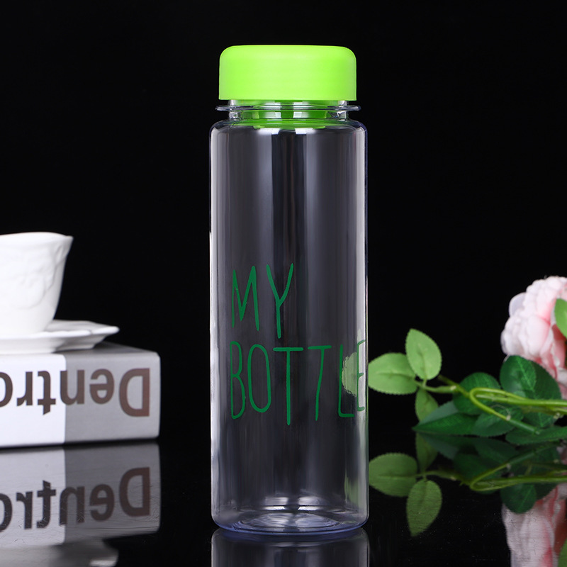 Hot Sale 500ML Drinks Fruit Juice Water Cup Custom logo printing  Fashion  Cute my bottle Plastic Drinking Water Bottle