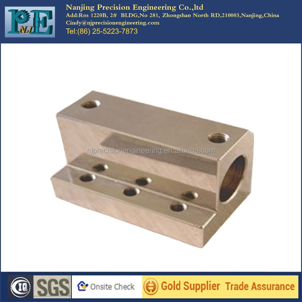 Customized high precision <strong>cnc</strong> milling and drilling stainless steel block