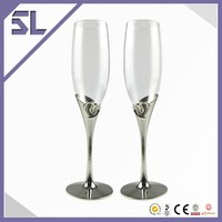 2014 Fancy Barware Wholesale Champagne Glass Customized Gold plated