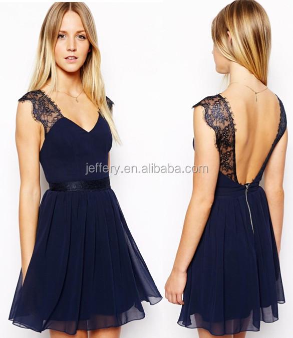 86a6ea5d8c513 Femmes robe décontractée en mousseline de soie dentelle robe d été sexy jeune  fille style