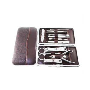 Beauty Care Professional Stainless Steel Nail Clipper 12pcs Manicure Pedicure Set