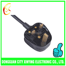 custom 3 pin plug BS standard external power cable