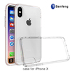 OEM LOGO online clear tpu acrylic cell mobile phone cover for iphone X case
