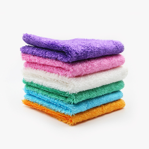 Multi-purpose cleaning towels highly absorbent custom hang tags 100% rayon cleaning cloths