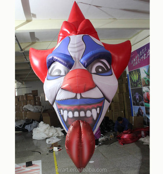 giant inflatable red nose clown halloween decorations
