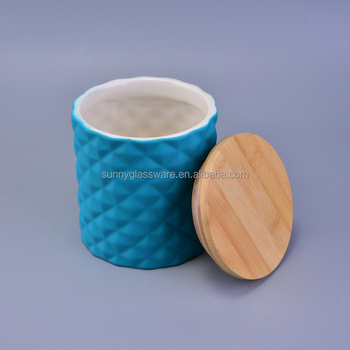 wholesale decoration ceramic candle containers