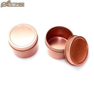 Rose gold 4oz round tin small storage containers plain gift boxes