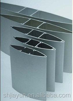 Blue Black White Powder Coated Aluminum Profile For Shutters ...
