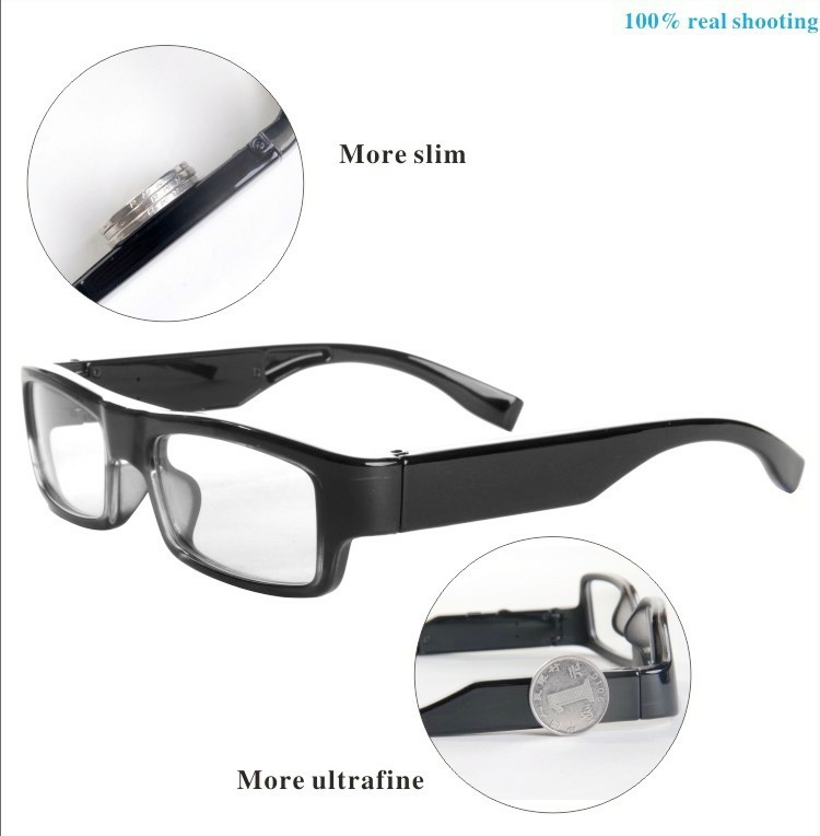 Good Quality HD 1080p  Wearable spy glasses camera hidden video eye glass mini camcorder