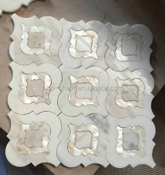Waterjet Marble Mix Shell Decorative Mosaic Tile