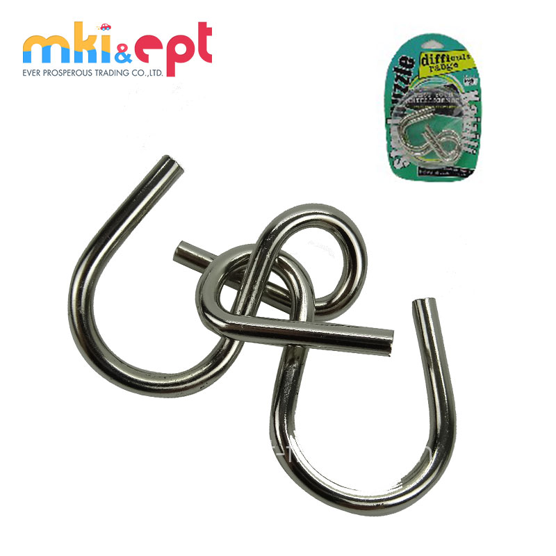 ICTI Proved mini metal wire disentangle puzzle for sale