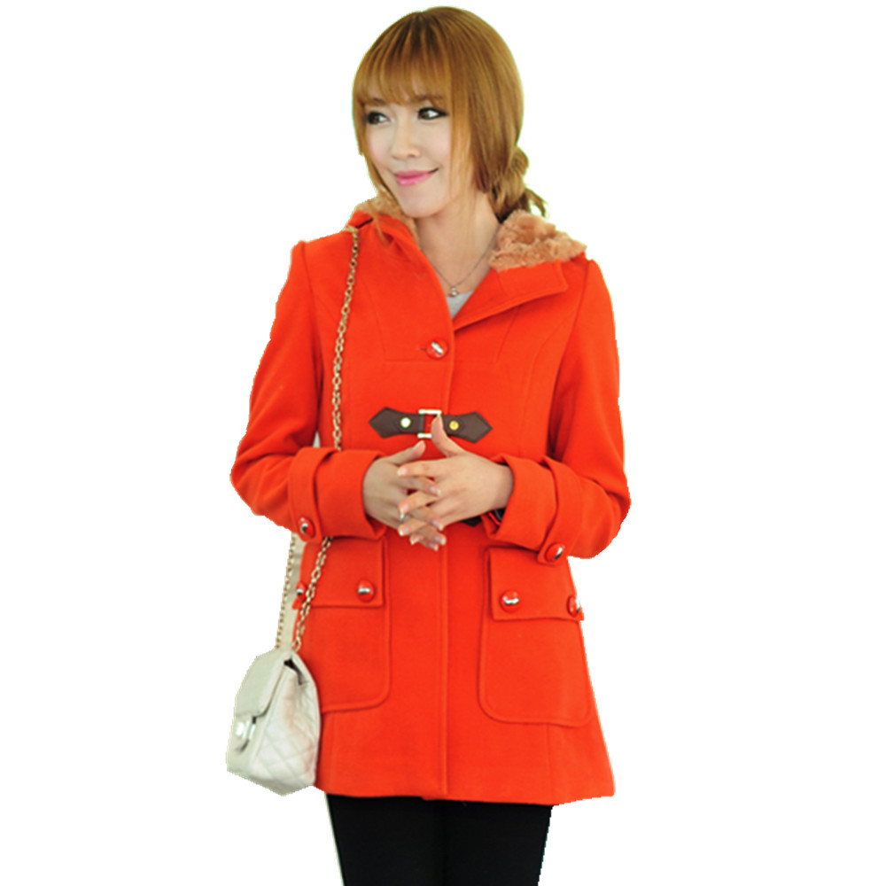 ad778ac1f1d13 Get Quotations · Winter 2013 Women s Jackets red Warm Coat With Fur For Women  Wool Coat Outerwear Fashion Women s