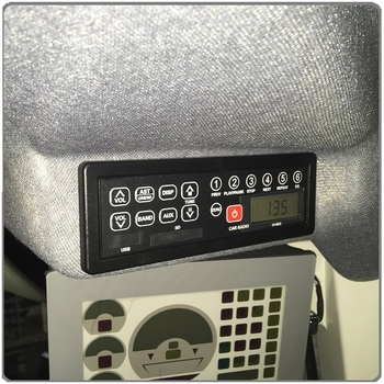 M95 IHI excavator 12V 24V AM FM radio with USB SD dust proof for agricultural machinery