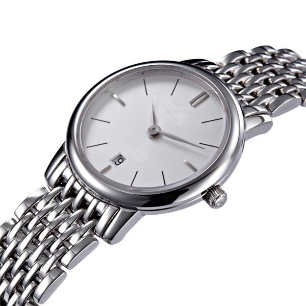 LongBo simple style steel mesh quartz all brand watches names thin watch