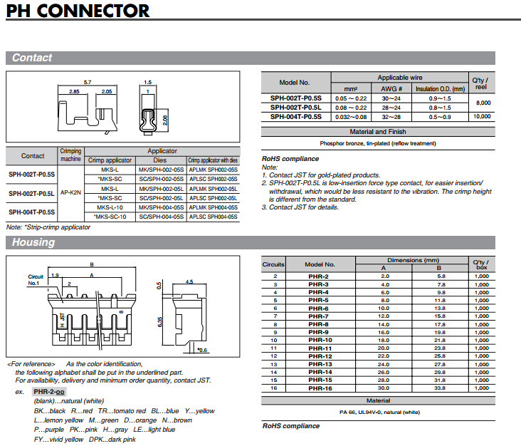 Jst 2,0mm Pitch Ph Series 7 Pin-anschluss Phr-7-l Gehäuse Kabel ...