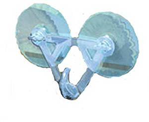 DYNO SEASONAL SOLUTIONS Suction Cup Wreath Hanger Designed To Hang Wreaths On Any Non-Porous Surface Double Suction Cup Holds Up To 15 Lb by Dyno Seasonal Solutions