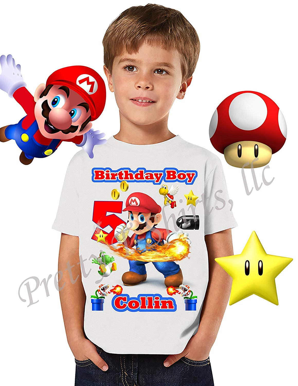 Mario Birthday Shirt, ADD any name and any age, Birthday Boy Shirt, Super Mario Birthday Shirt, FAMILY Matching Shirts, Mario Shirt, Birthday Shirt Super Mario, Fire Power Mario, VISIT OUR SHOP!!