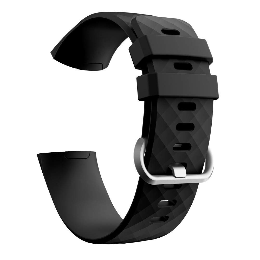 WEIJIJ Replacement Watch Wrist Band for Fitbit Charge 3 Sports Silicone Bracelet Strap Bands Watch Band Strap Bracelet Wristband watchband