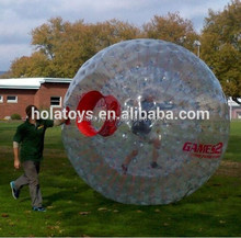 Hola zorb ball price/inflatable ball person inside/human sized hamster ball