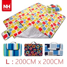 Tartan Printed Picnic Blanket For External Inflator Pump Outdoor Family