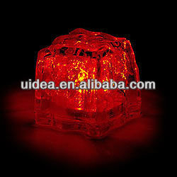 Red color 2.8cm LED water-activated ice light