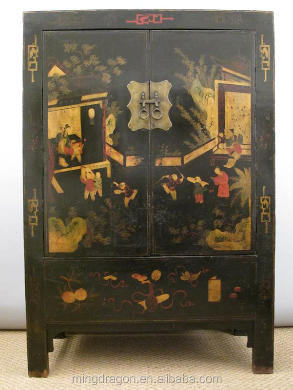 Antique Chinese furniture living room cabinet & wedding wardrobe