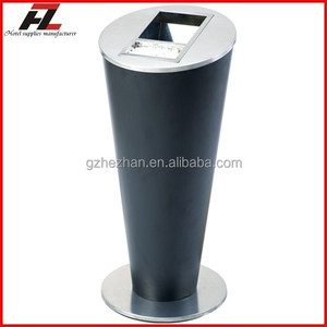 Free standing normal style black outdoor cigarette bin / Metal cigarette bin for sale