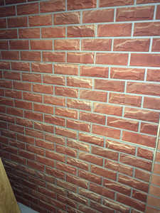 archaized brick exterior 3D wall panel