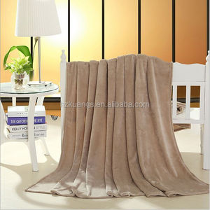 100 polyester Micro Soft Solid Coral Fleece Blanket