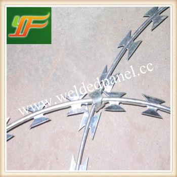Astm A653 Factory Hot Dip Galvanized Razor Wire/ Pvc Coated Razor ...