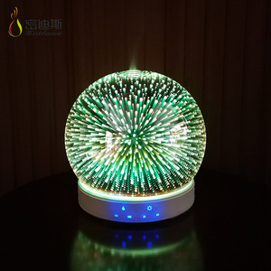 SIXU electric aromatherapy lamps ultrasonic mist maker fogger ultrasonic essential 3d glass oil diffuser