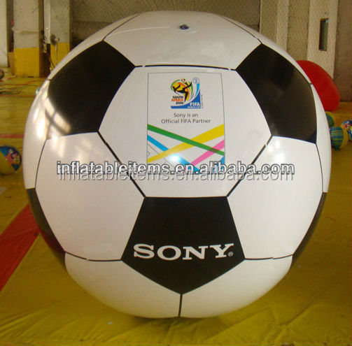 Pvc inflatable plastic soccer ball