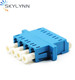 High quality Quad Core Single Mode PC Optical Fiber LC Adaptor/Adapter